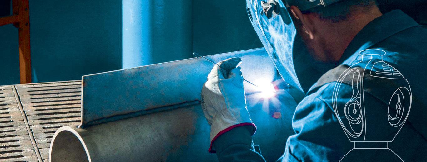 Exeltop kompakt unterstützt den Anwender beim Schweißen von Metall